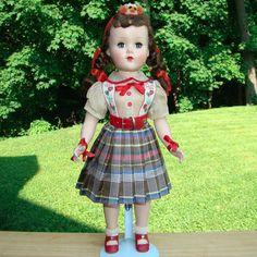 1950s Arranbee Nanette HP Roller Skater Doll Original Puppy Hat 18 Inch #Arranbee