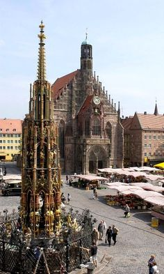 Hauptmarkt in Nürnberg, Bayern, Deutschland