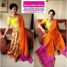 Designer Choli Skirt ( with Mirror Work )