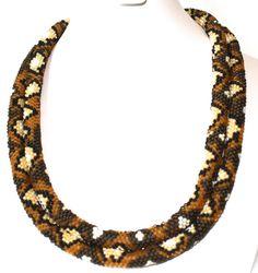 Seed Bead PATTERN Tubular Peyote Stitch for Diamond Back Snake