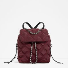 Image 2 of QUILTED CHAIN BACKPACK from Zara