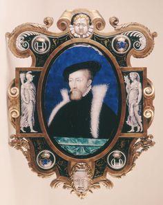 Portrait of Francois de Cleves, duc de Nevers - Leonard Limosin, France, mid-1500s; enamel on copper  -  Taft Museum of Art, Cincinnati