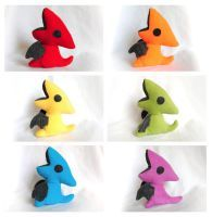 Rainbow Pterodactyl Plushies by pookat