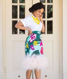 27 Latest Ankara Skirt Styles You Should Check Out African Fashion Skirts, African Print Fashion, Africa Fashion, Skirt Fashion, Ankara Fashion, Fashion Outfits, Fashion Trends, African Print Skirt, African Print Dresses