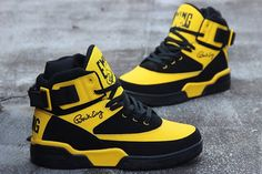 Ewing Athletics Ewing 33 Hi Dandelion Retro*~ Classic Sneakers, Best Sneakers, Sneakers Fashion, Fashion Shoes, Shoes Sneakers, Mens Fashion, Shoes Heels, Ewing Shoes, Ewing Athletics