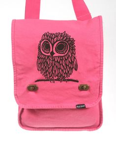 Owl Messenger Bag Pink.