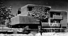 Architect's House and Studio, Stuttgart, Germany, 1965-67 by Wilfried Beck-Erlang