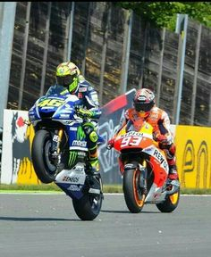 Rossi & Marquez, the fastest men on 2 wheels.