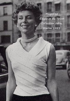 Modèle de corsage au tricot des années 50