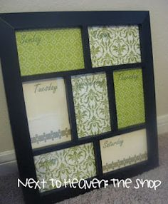 My dry erase frames are now for sale on ETSY!