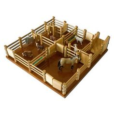 CY4 - Cattle Yard No 4 - Handmade Wooden Yard  - Handmade Wooden Toys And Trucks