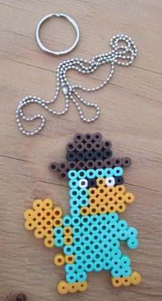 Perry The Platypus Made In Perler beads Your by GiacomoDesigns, $6.00