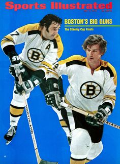 May 1972 Sports Illustrated via Getty Images Cover: Hockey: NHL Playoffs: Boston Bruins Phil Esposito and Bobby Orr in action vs St. Louis Blues during Semifinals at St. Louis, MO Get premium, high resolution news photos at Getty Images Ice Hockey Teams, Hockey Players, Hockey Stuff, Montreal Canadiens, Phil Esposito, Sports Magazine Covers, Si Cover, Cover Art, Bobby Orr