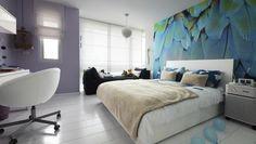 White bedroom, Pinion, Purple, Thailand