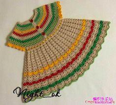 Marisabel crochet: Vestido de colores alegres