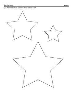 Star Template - A Printable Star Pattern for Kids Shape Templates, Applique Templates, Applique Patterns, Stencil Patterns, Printable Shapes, Printable Star, Felt Patterns, Star Patterns, Felt Christmas