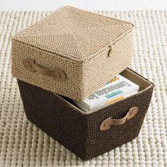 The Container Store: Crochet Box - scatole contenitore all'uncinetto