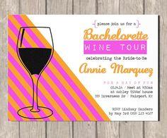 Wine Tour Bachelorette Invitation By Penandinkprints On Etsy