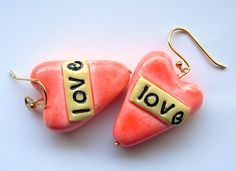 Earrings made for Valentine's week