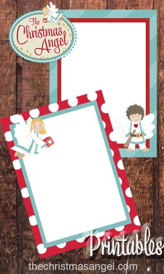 The Christmas Angel- Printable letterhead! Christmas stationary Now you can leave your child a sweet letter from the angel.