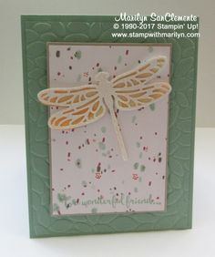 Dragonfly Dreams card on Stamp with Marilyn