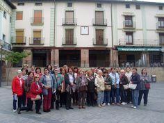 El grupo en la Plaza de España
