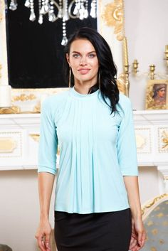 Light blue blouse - elegant choice for every day! by BeIn16.com