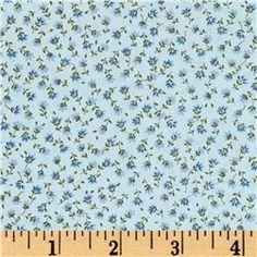 Kaufman Sevenberry Petite Fleurs Buds Blue