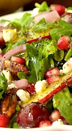 Arugula, Pomegranate and Pear Salad