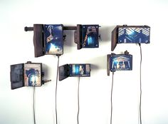 Robert Ladislas Derr, rusted fuse boxes, lights, and cyanotype and gum bichromate prints