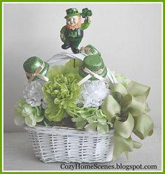 St Patrick's Day Floral Arrangement