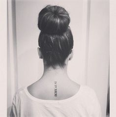 30 Roman Numeral Tattoos That Will Mark Your Most Memorable Date Bff Tattoos, Date Tattoos, Spine Tattoos, 1 Tattoo, Trendy Tattoos, Tattoo Fonts, Future Tattoos, Body Art Tattoos, Small Tattoos