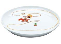 chouette assiette illustrée en porcelaine