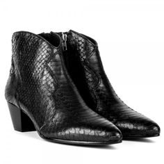 98591d61e93 Work the Ash Hurrican Boots into your capsule wardrobe for In Black Python  Leather