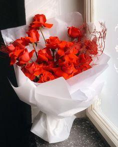 "Flower shop in Prague on Instagram: ""Not just ordinary red roses♥️ Orders: +420775683780 (WhatsApp, Viber, Telegram)"" Garden Roses, Prague, Red Roses, Vase, Wreaths, Flowers, Shopping, Instagram, Decor"
