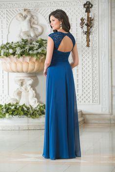 US$149.99 A-line Lace Cap Sleeves Empire Waist Chiffon Floor Length Bridesmaid Dresses by jasmine belsoie L174013 - Bridesmaidnightgirl.com