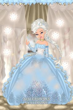 Rococo Elsa ~ by _RaMmStEiN_ ~ created using the Pixie doll maker | DollDivine.com