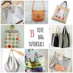 thirty – three tote bag tutorials – Purses And Handbags Diy Zipper Pouch Tutorial, Tote Tutorial, Tutorial Sewing, Diy Handbag, Fabric Bags, Fabric Basket, Patchwork Bags, Tote Purse, Bag Storage