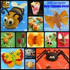 Cute and Creepy Bug Themed Party Food. These would make such a cute bug themed party for a summer birthday.