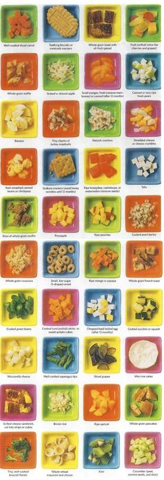 toddler food. Love this idea for first time starters or just if you need a new idea. I need to print and hang this on my fridge!