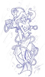 Mermaid Tattoo Sketch