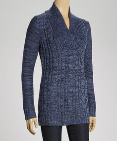 Take a look at this Blue V-Neck Sweater by Chances R on #zulily today!