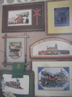 SeeSallySew.com - Highballin' Trains Cross Stitch Railroad Puckerbrush Inc Book 17 Design Charts , $8.99 (http://stores.seesallysew.com/highballin-trains-cross-stitch-railroad-puckerbrush-inc-book-17-design-charts/)