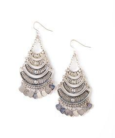 Silver Chandelier Drop Earrings #zulily #zulilyfinds