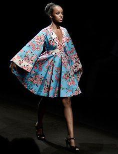 short dress blue  African Fashion!