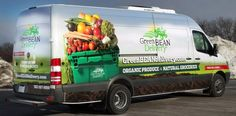 Green Bean Delivery Van Wrap