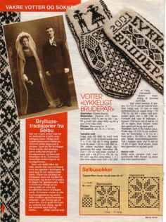 Selbustrikk fra Norsk Ukeblad : 4 Knitting Charts, Knitting Patterns Free, Free Knitting, Knit Mittens, Mitten Gloves, Diy Knitting Projects, Best Photo Poses, Wrist Warmers, Knit Crochet