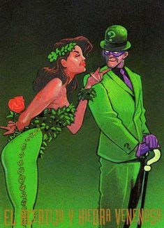 Poison Ivy and Riddler - Yahoo Image Search Results Riddler Halloween, Riddler Costume, First Halloween, Diy Halloween Costumes, Costume Ideas, Halloween 2020, Poison Ivy Costume Diy, Dc Poison Ivy, Marvel And Dc Characters