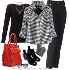 Black, white, and houndstooth