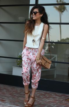 fashion, street style, floral, trend, los angeles, blogger, outfit ideas, inspiration, affordable finds...